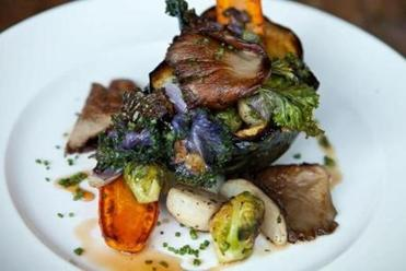 "The ""Roast Autumn Squash"" entree served at Farmstead Table in Newton"